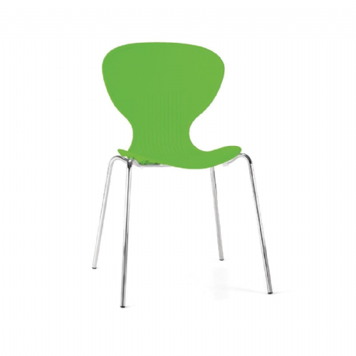 Bolero Lime Stacking Plastic Side Chairs (Pack of 4) - GP503